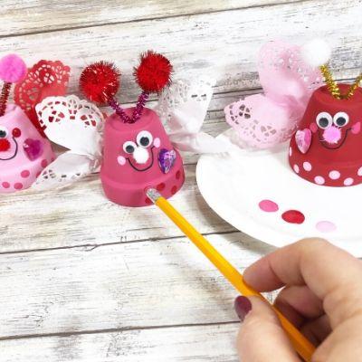 valentine clay pot craft process