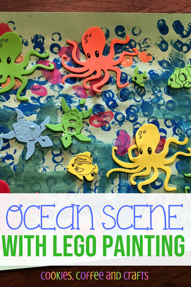 Ocean Scene with LEGO Painting