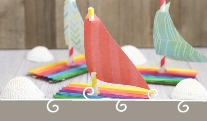 Floating Popsicle Stick Boat Craft for Kids