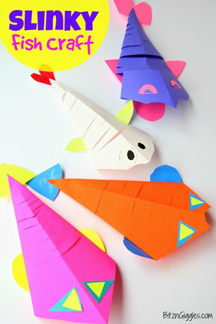 Slinky Fish Craft