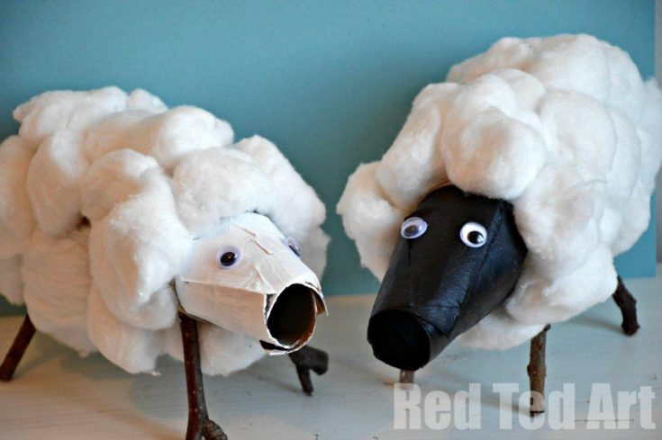 Toilet Paper Rolls Crafts - Spring Time Sheep