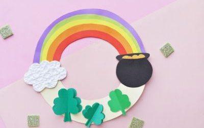 diy paper St Patrick's day wreath