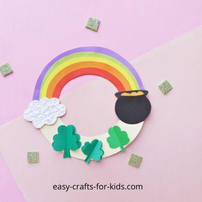 St Patrick's Day Wreath Paper Craft