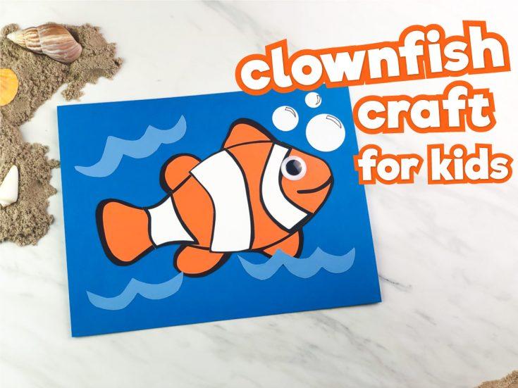 Easy Clownfish Craft For Preschool