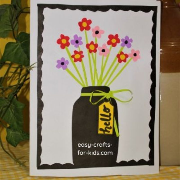 flower vase craft for kids