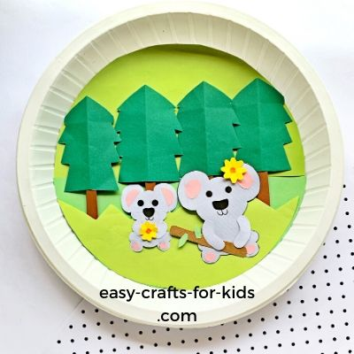 koala craft with paper plate