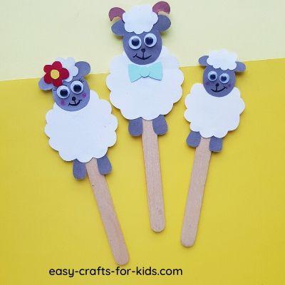 sheep puppet craft
