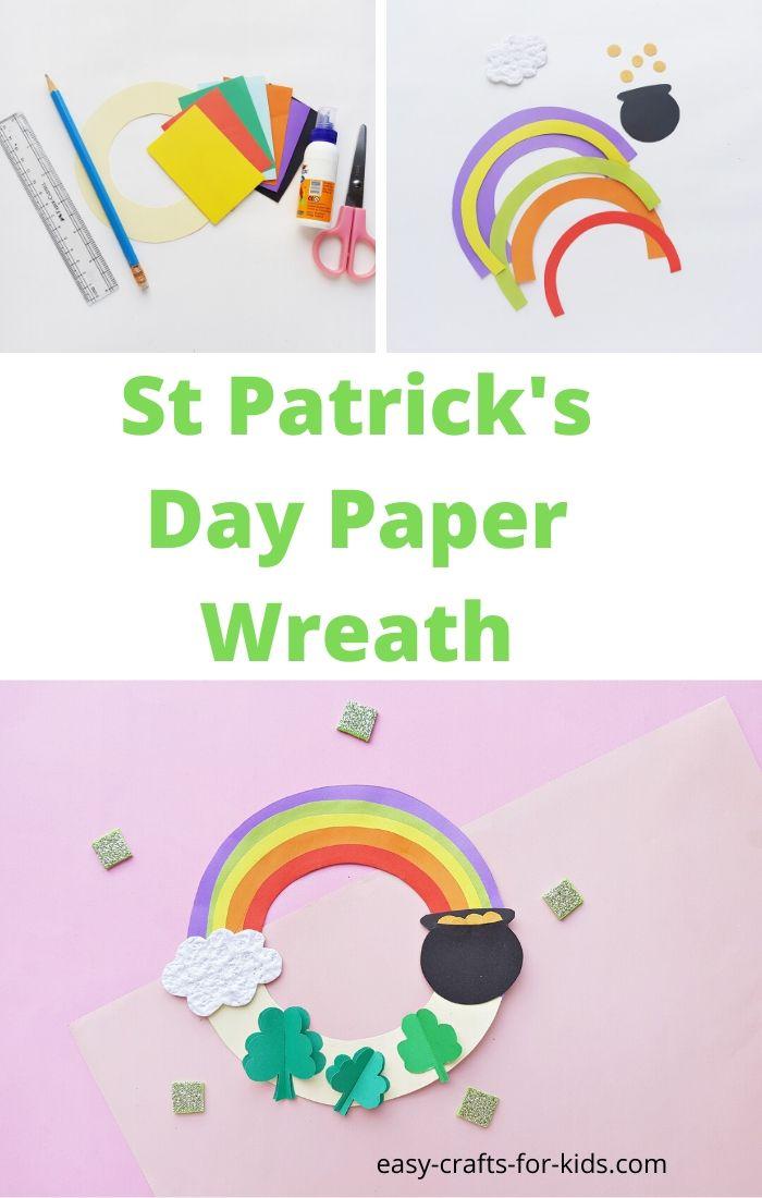 st patricks day wreath paper craft