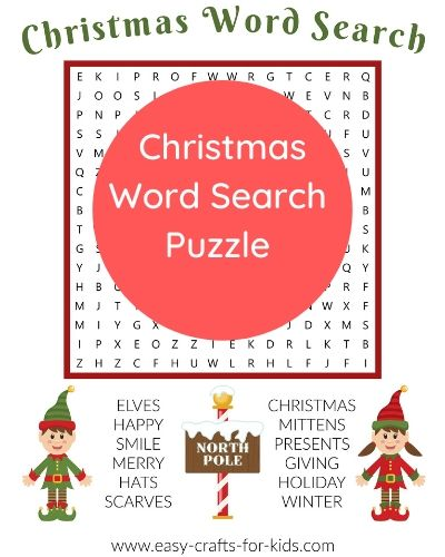 word search for christmas