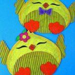 chick cardboard crafts for kids