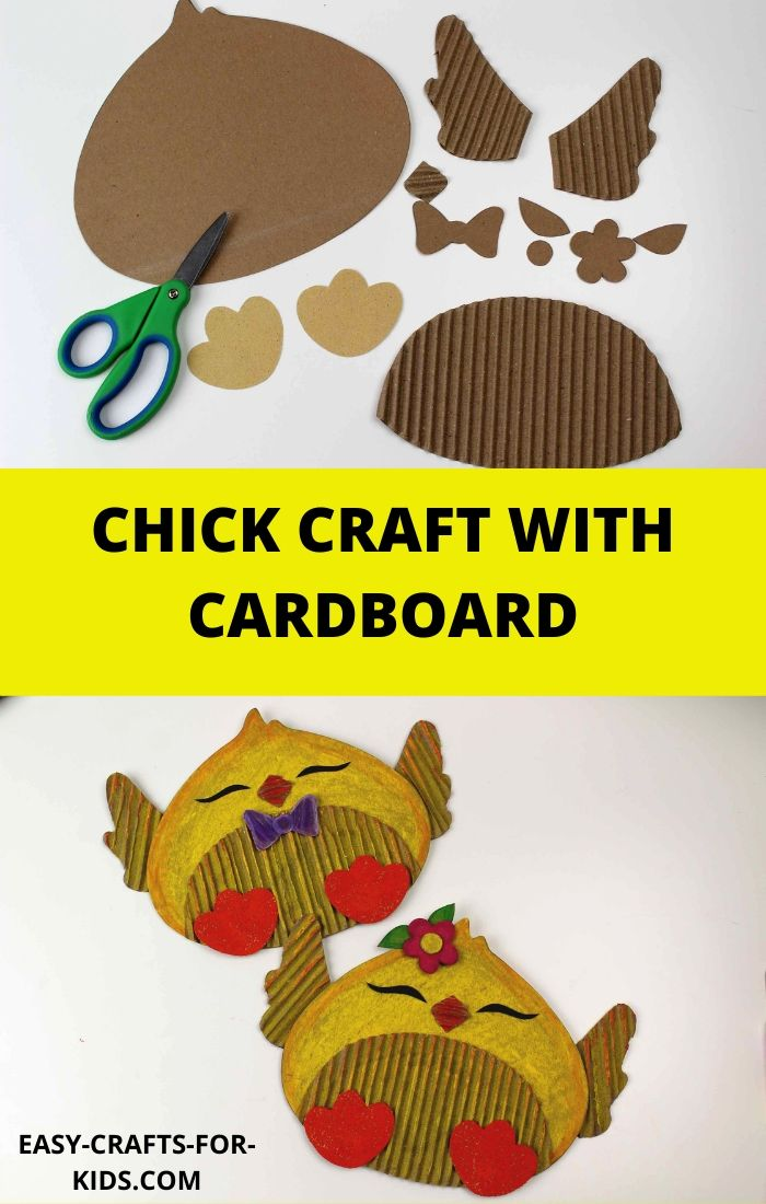 chick craft with cardboard