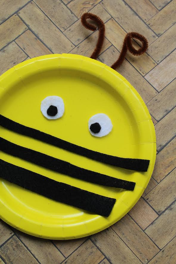Bumble Bee Paper Plate Craft