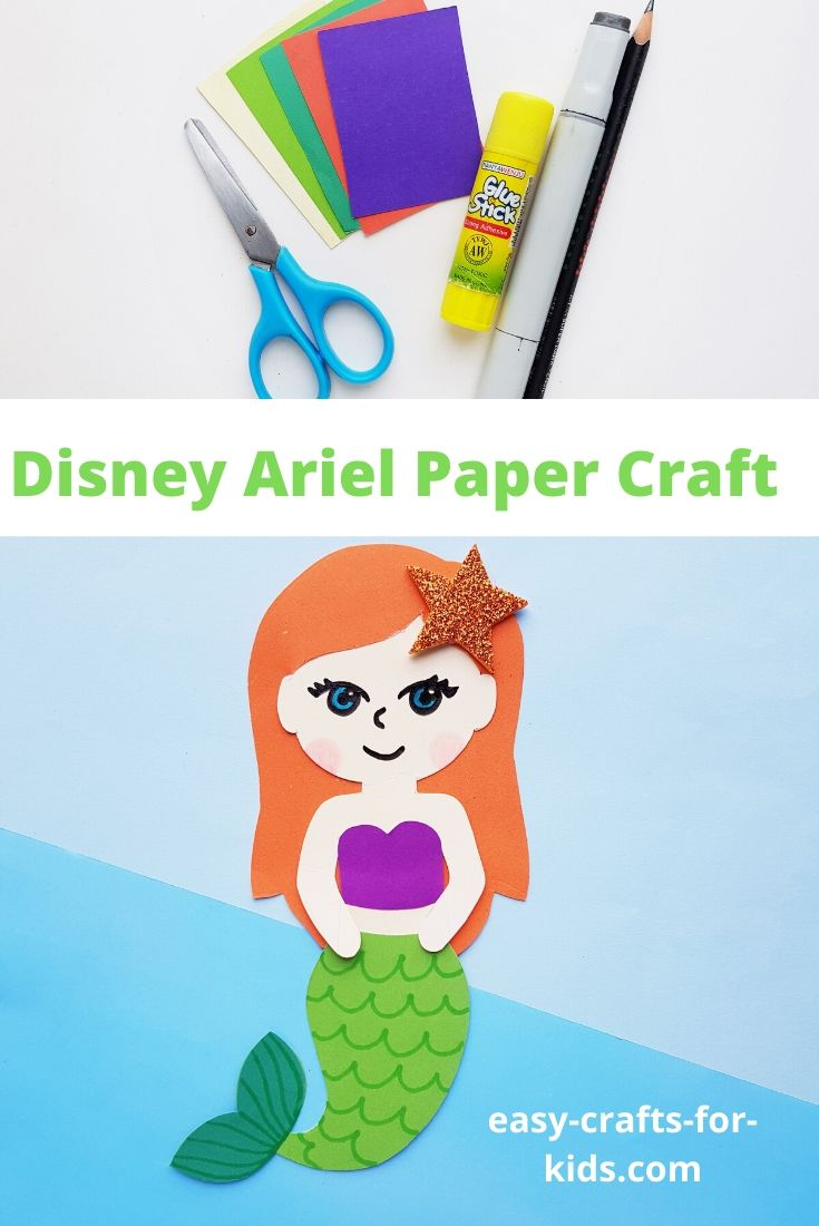 Disney Ariel Craft with Paper