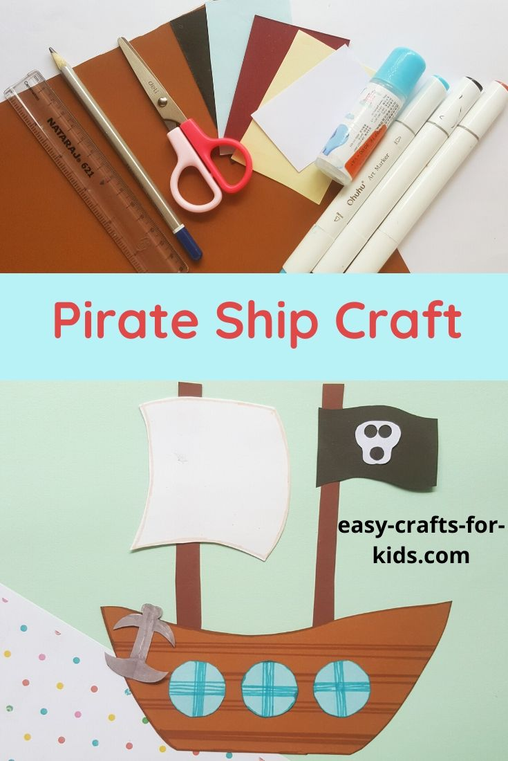 Pirate Ship Craft With Paper