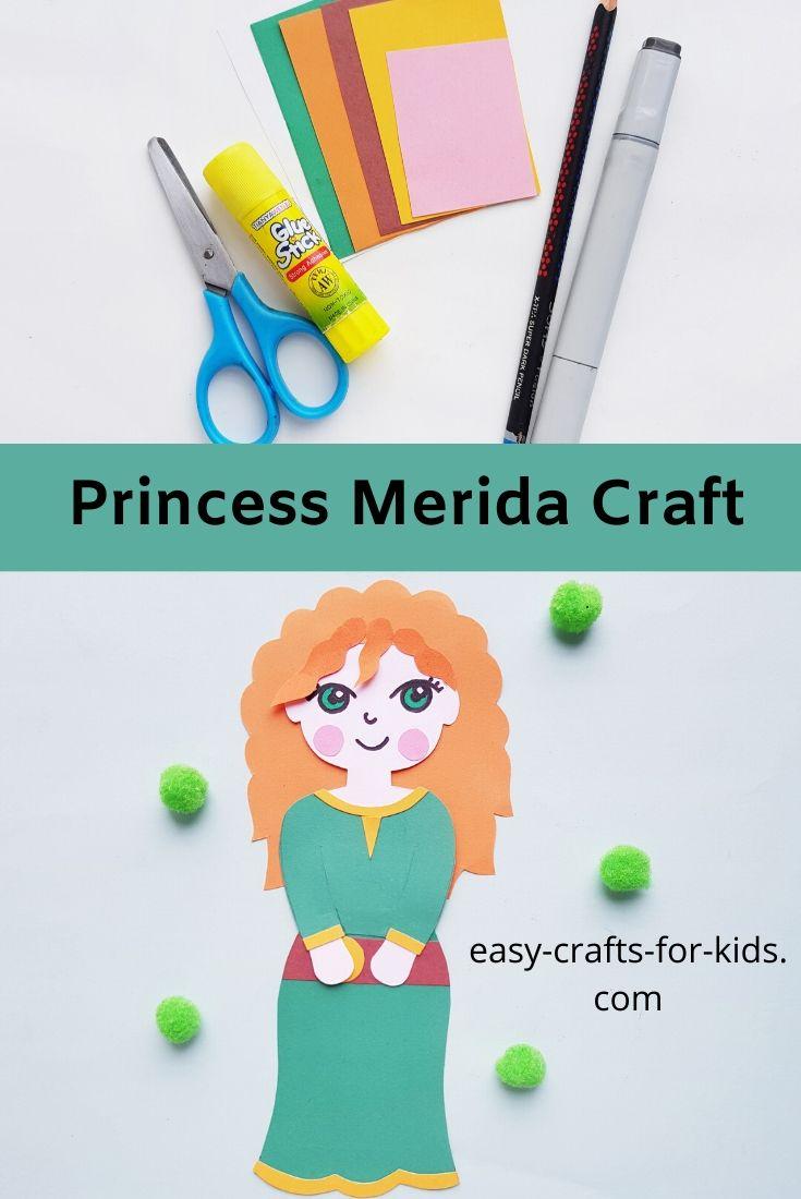 Princess Merida Craft With Paper