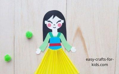 Princess Mulan Craft with paper
