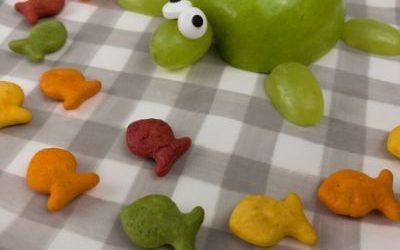 easy turtle craft with food