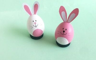 easter bunny craft with egg