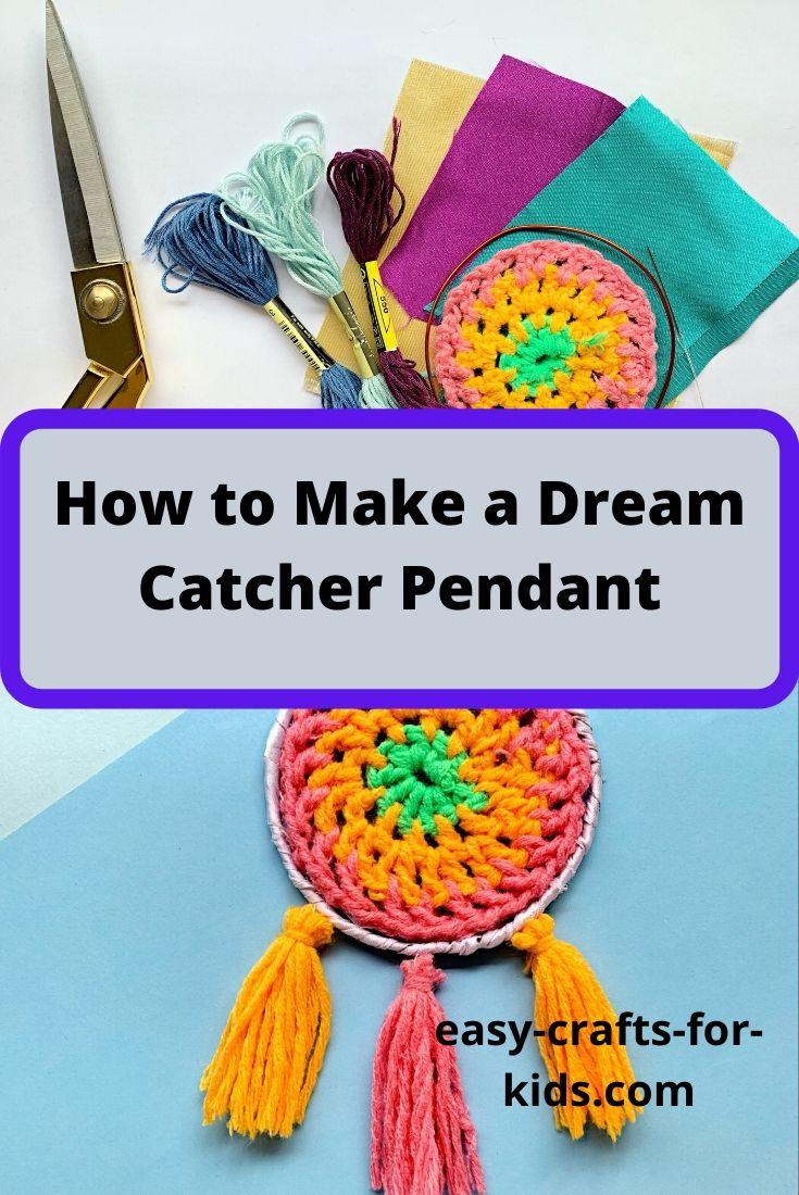 how to make a dream catcher pendant