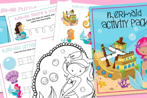 mermaid puzzles and activities
