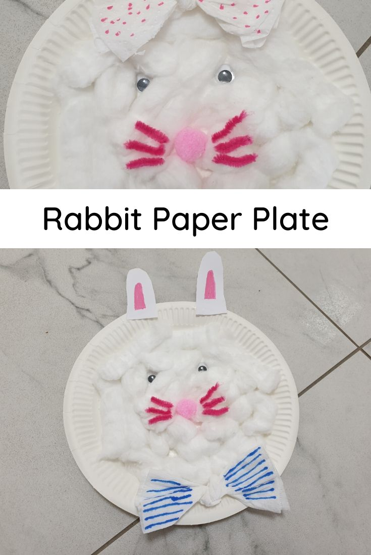 rabbit craft with paper plate