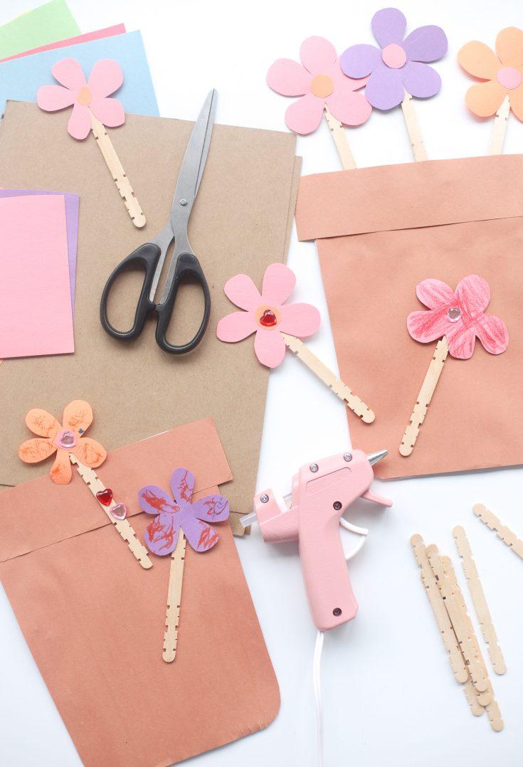 DIY Cardboard Construction Paper Flower Pots