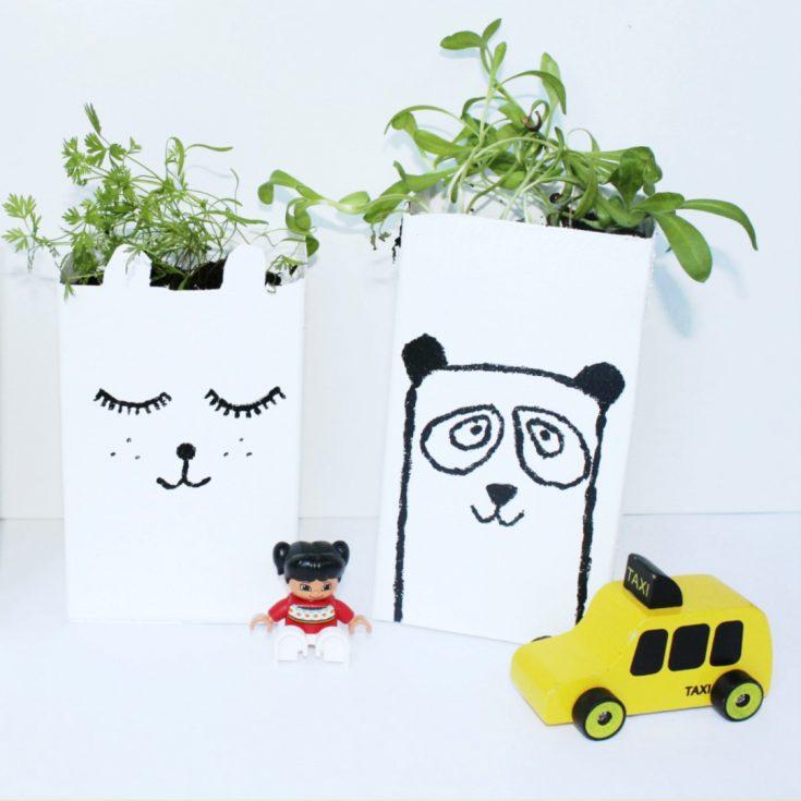 How to Make a Milk Carton Planter Craft for Kids