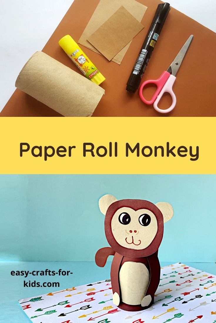 Monkey Craft with Toilet Paper Roll