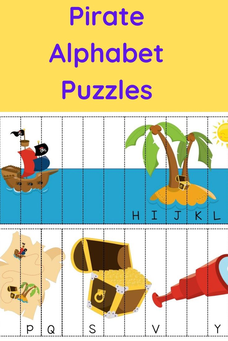 Pirate Alphabet Puzzles