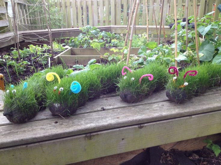 Grass Caterpillars - Red Ted Art - Make crafting with kids easy & fun