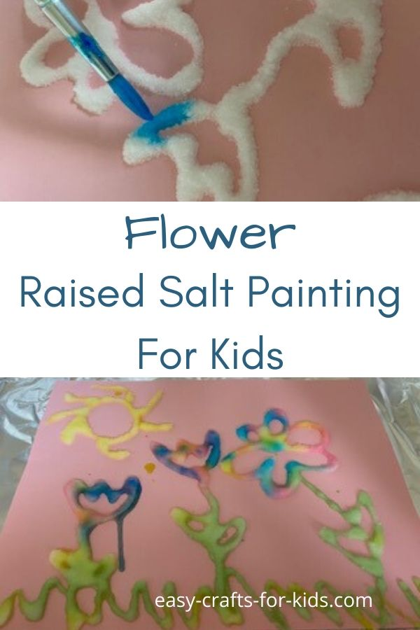 flower salt painting project