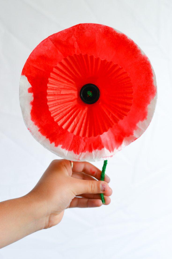 Memorial Day Paper Poppy Craft