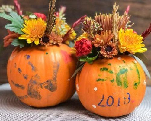 Thanksgiving Pumpkin Flower Arrangement