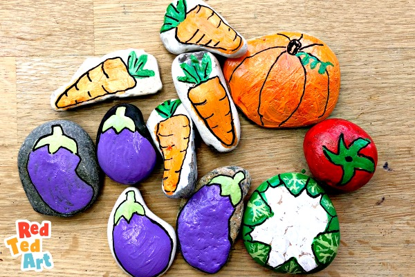 Rock Painting Vegetables - Red Ted Art - Make crafting with kids easy & fun