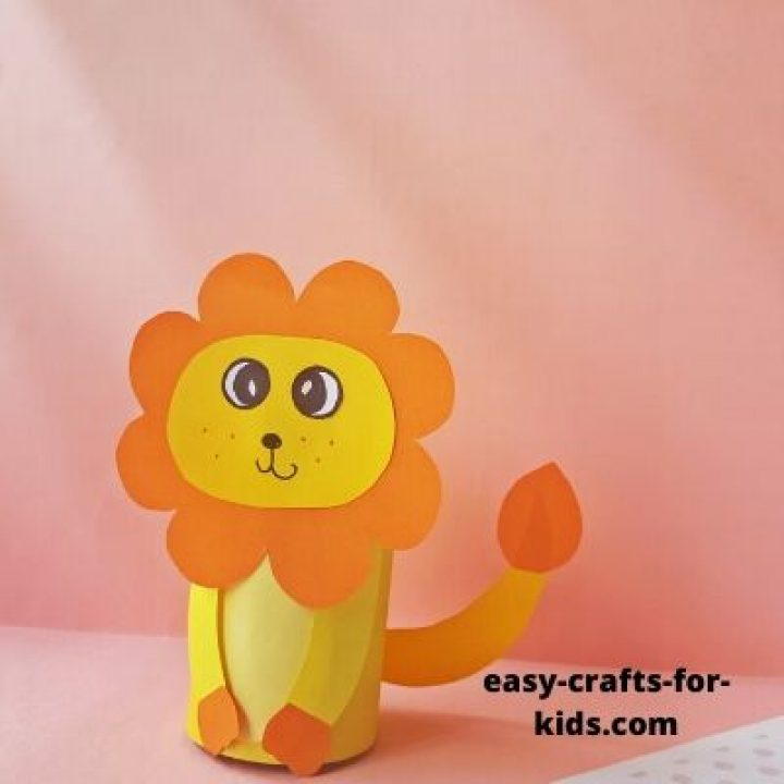 Lion Craft with Toilet Paper Roll