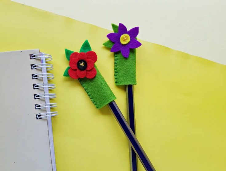 Flower Pencil Toppers – Easy Felt Crafts