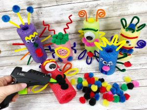 pool noodle craft monster
