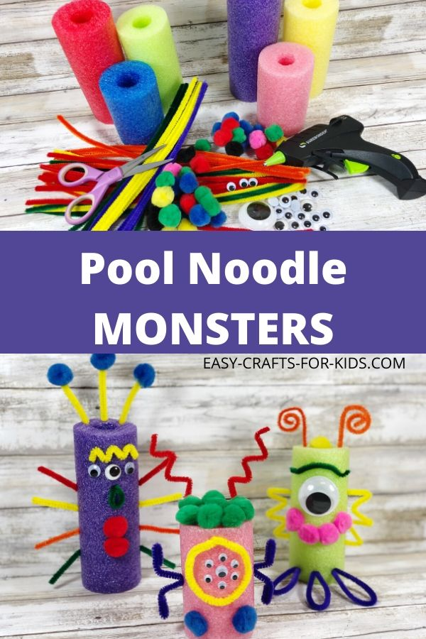 Pool Noodle Monster Craft