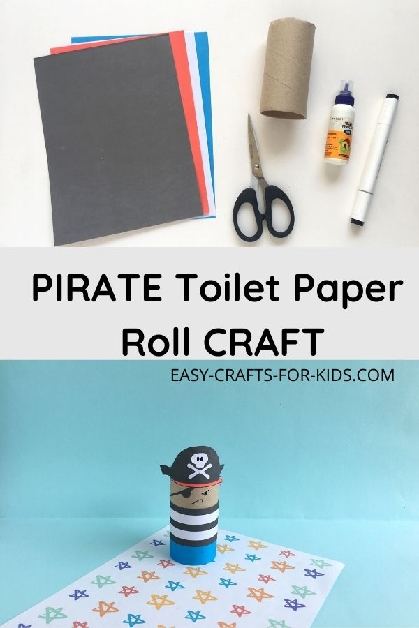 Toilet Paper Roll Pirate Craft
