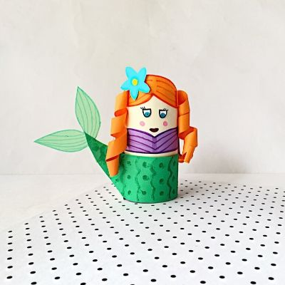 mermaid craft with toilet paper rolls