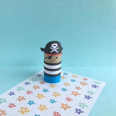 pirate craft with toilet paper roll