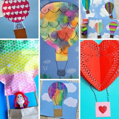 Hot Air Balloon arts and crafts
