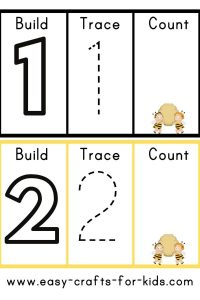 Numbers printable worksheets for 3 year olds