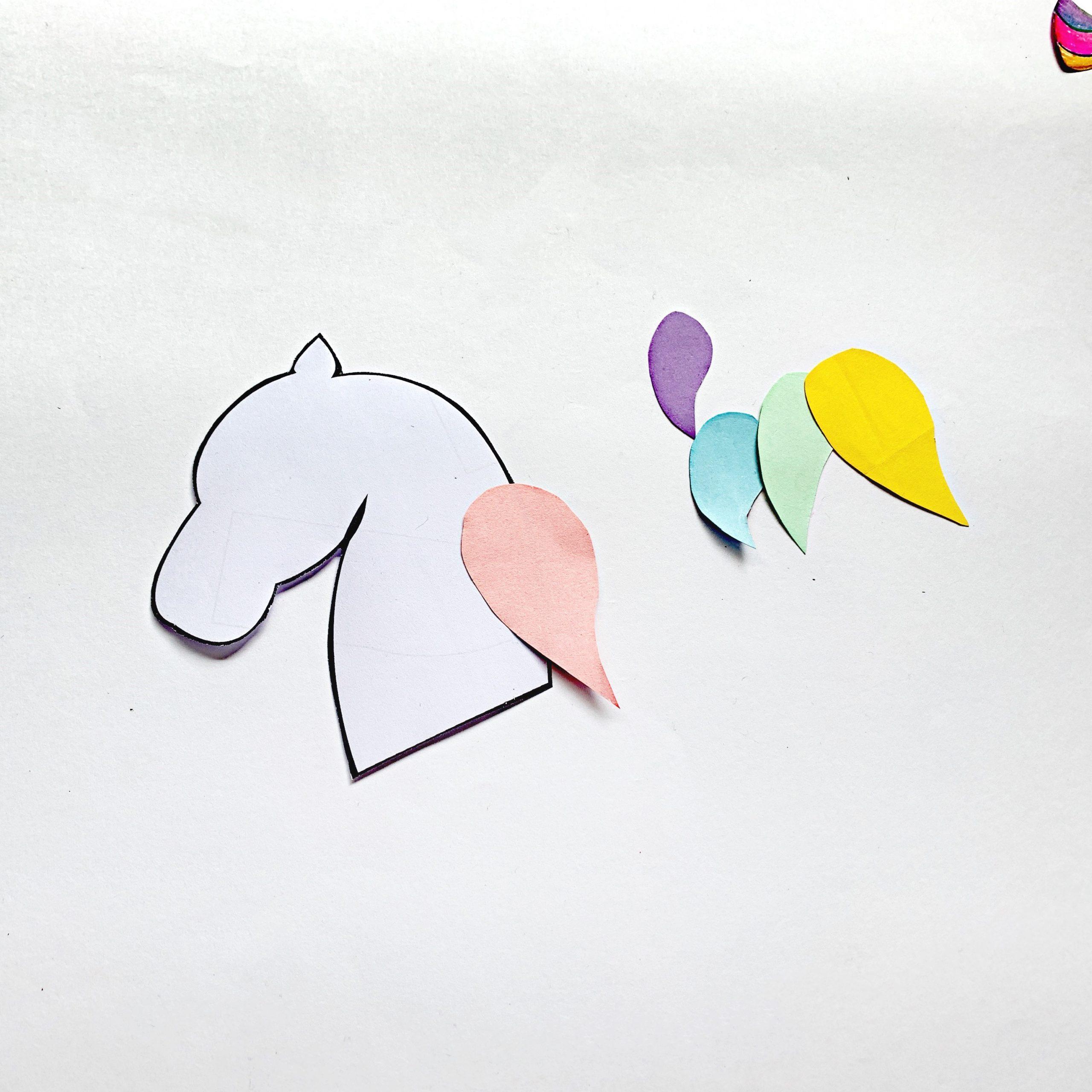 unicorn bookmark step by step