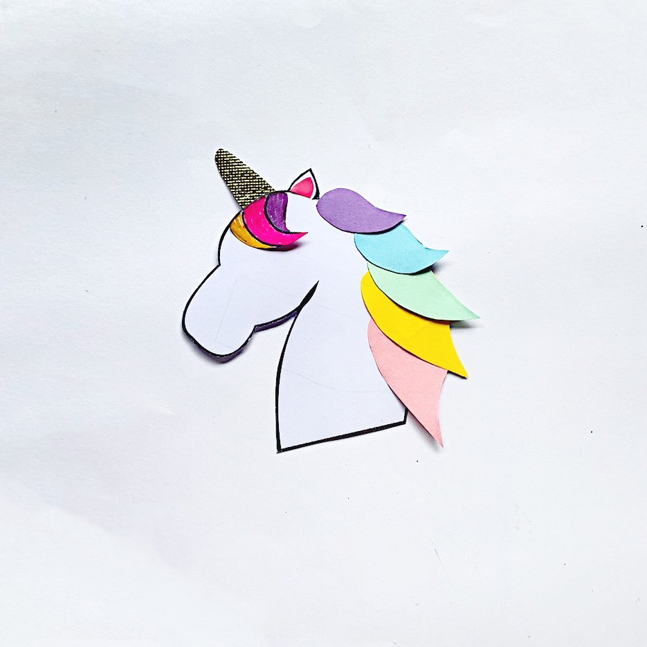 how to make an unicorn bookmark