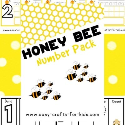honey bee numbers 1-10 worksheets