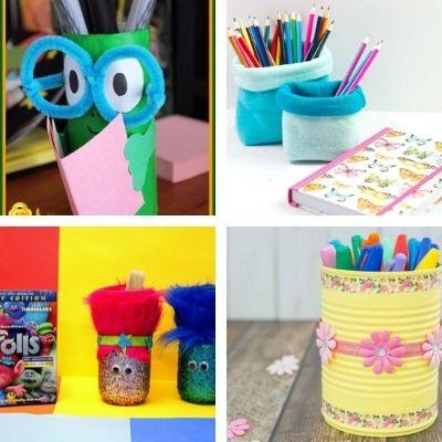 pencil holder crafts for children