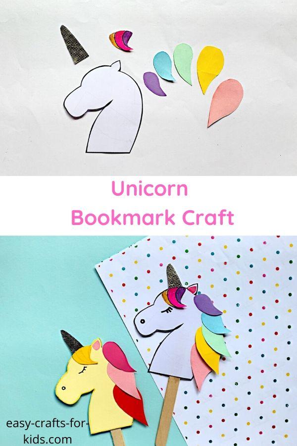 unicorn Popsicle Stick Bookmark Craft