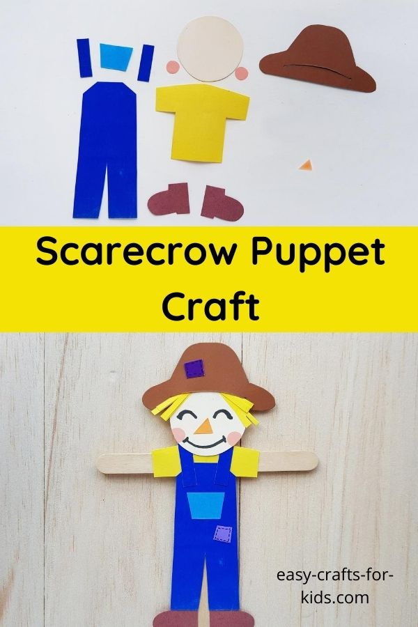 Scarecrow Puppet Craft with Popsicle Sticks