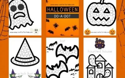 dot to dot printable for Halloween